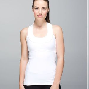NWT Scoop Neck Tank White Sz 8